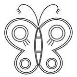 Papillon ?tonnant de mouche Vecteur Concept créatif de la Bohême pour épouser des invitations, cartes, billets, félicitations, st illustration libre de droits