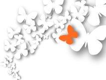 Papillons abstraits du livre blanc 3D illustration libre de droits