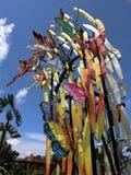 Papillons colorés de tissu Photo libre de droits