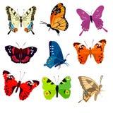 Papillons colorés mignons illustration libre de droits