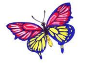 Papillons d'illustration de différentes formes Photographie stock libre de droits