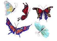 Papillons d'illustration de différentes formes Photo libre de droits