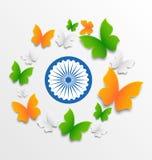 Papillons dans tricolore traditionnel Photos libres de droits