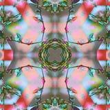 Papillons de fleur de fractale de batik Photo stock