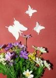 Papillons de papier Image libre de droits