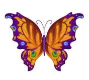 Papillons lumineux colorés de vecteur Image stock