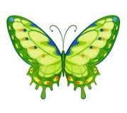 Papillons lumineux colorés de vecteur Images libres de droits