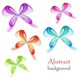 Papillons multicolores abstraits sur un fond blanc illustration stock