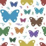 Papillons sans couture de texture sur le blanc illustration libre de droits