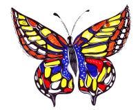 Papillons tirés par la main d'illustration Images libres de droits