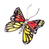 Papillons tirés par la main d'illustration de différents modèles Images stock