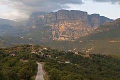 Papingo地区在希腊 免版税库存图片
