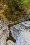 Papingo Rock Pool formations near Papingo village in Epirus, Gre Stock Photography