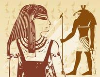 Papiro com elementos da História antiga egípcia Fotografia de Stock Royalty Free