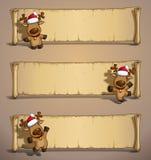 Papiro degli alci di Natale illustrazione di stock