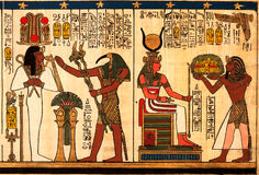 Papiro egípcio Imagem de Stock Royalty Free