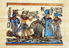 Papiro egípcio fotos de stock
