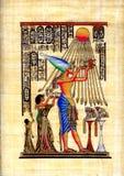 Papiro egipcio stock de ilustración