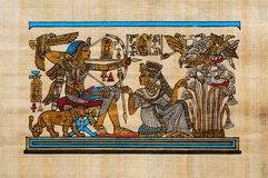 Papiro egipcio Foto de archivo