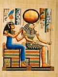 Papiro egipcio Imagen de archivo