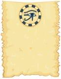 Papiro egipcio con el ojo de Horus libre illustration
