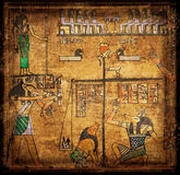 Papiro egirtian antico Fotografia Stock Libera da Diritti