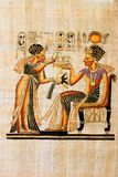 Papiro egiziano immagini stock libere da diritti