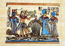 Papiro egiziano fotografie stock