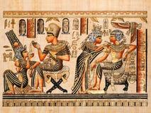 Papiro egiziano immagine stock libera da diritti
