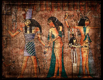 Papiro egyrtian antiguo Foto de archivo libre de regalías