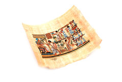 Papiro no branco imagem de stock