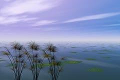 Papiro y mar Imágenes de archivo libres de regalías
