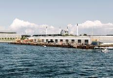 Papiroen jedzenia rynek w Kopenhaga, Dani obrazy royalty free