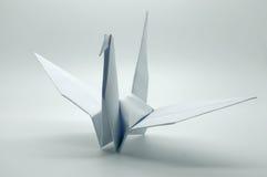 Papiroflexia blanca grúa, pájaro, papel Foto de archivo