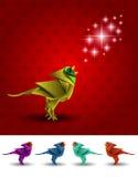 Papiroflexia del vector del pájaro Fotografía de archivo libre de regalías