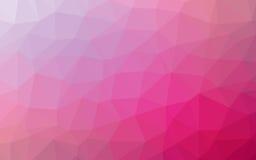 Papiroflexia geométrica simple abstracta del tono de la naturaleza rosada y fondo púrpura Foto de archivo
