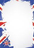 Papiroflexia horizontal del cartel de Reino Unido Fotos de archivo