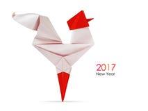 Papiroflexia roja del gallo Fotografía de archivo libre de regalías