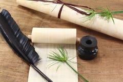 Papirusowa ślimacznica z dutką Obraz Stock