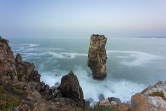 Papoa point in Peniche. Landscape at Papoa Point in Peniche Portugal royalty free stock photo
