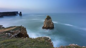 Papoa point in Peniche. Landscape at Papoa Point in Peniche Portugal royalty free stock photos