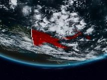 Papoea-Nieuw-Guinea tijdens nacht royalty-vrije stock foto