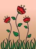 Papoilas vermelhas Foto de Stock Royalty Free