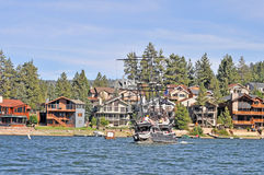 Papoose Bay. Is a small cove near the west end of Big Bear Lake Stock Images