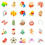 Papoose icons set, cartoon style Royalty Free Stock Image