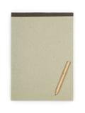 Papp med blyertspennan fotografering för bildbyråer