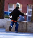 pappa hans running till Royaltyfri Bild