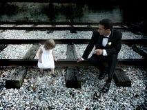 Pappa och dotter royaltyfri bild