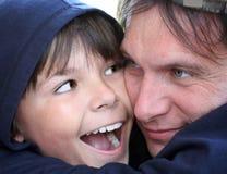 pappa och son Arkivfoton