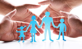 Pappabbildungen der Familie Lizenzfreie Stockbilder
